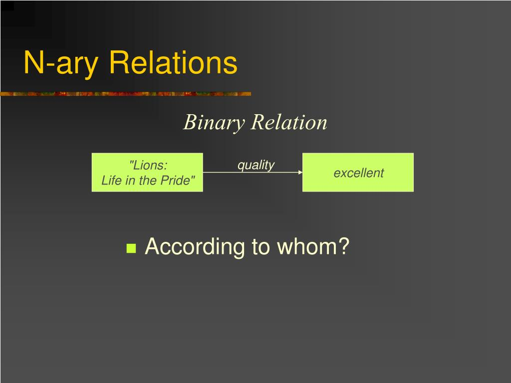 N-ary Relations
