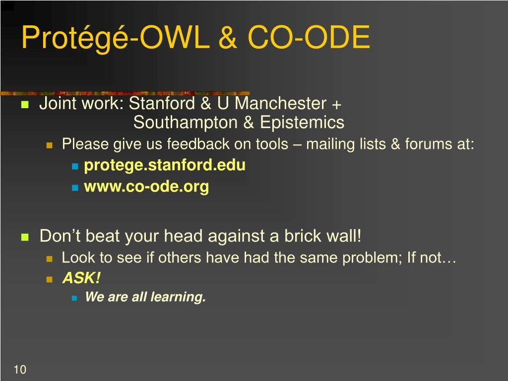 Protégé-OWL & CO-ODE