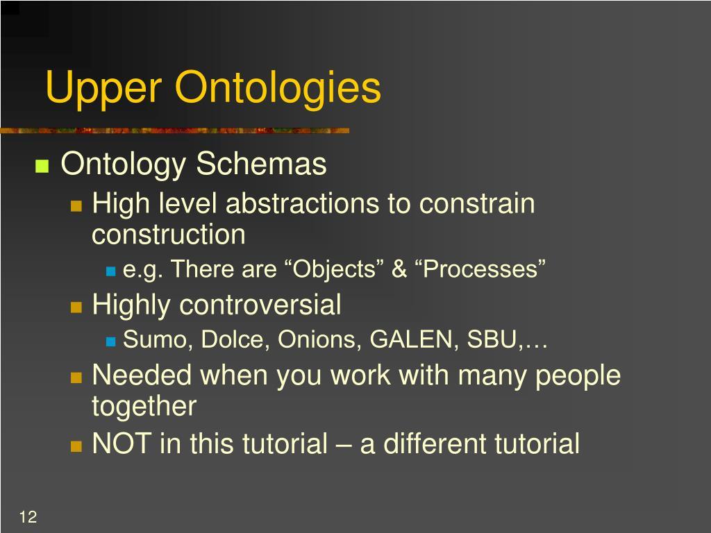 Upper Ontologies
