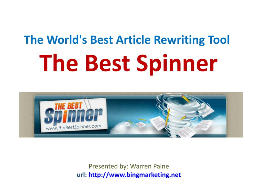 the world s best article rewriting tool the best spinner l.
