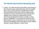 the world s best article rewriting tool3