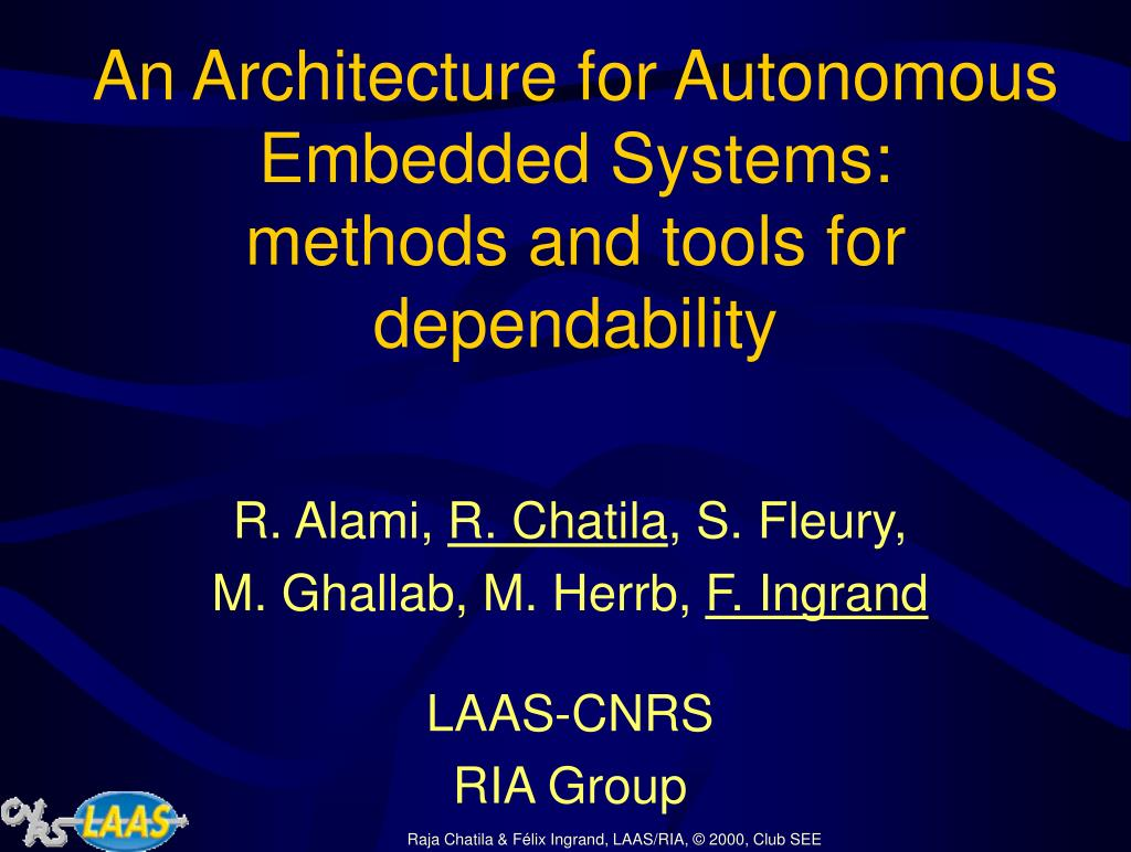 An Architecture for Autonomous Embedded Systems: