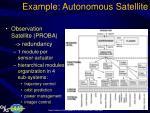 example autonomous satellite12