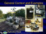 general context and examples