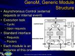 genom generic module structure