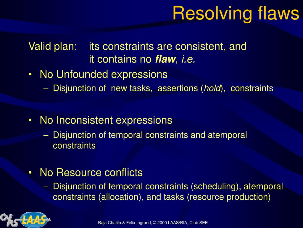Resolving flaws