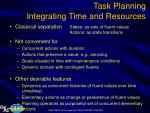 task planning integrating time and resources