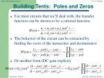 building tents poles and zeros