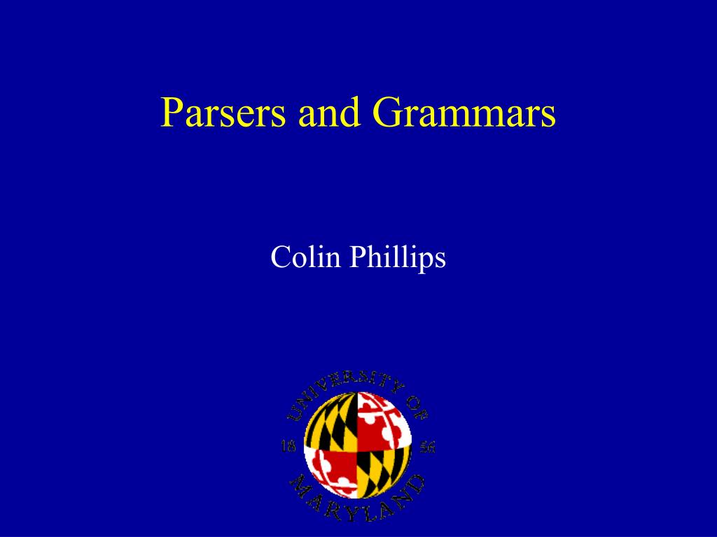 parsers and grammars l.