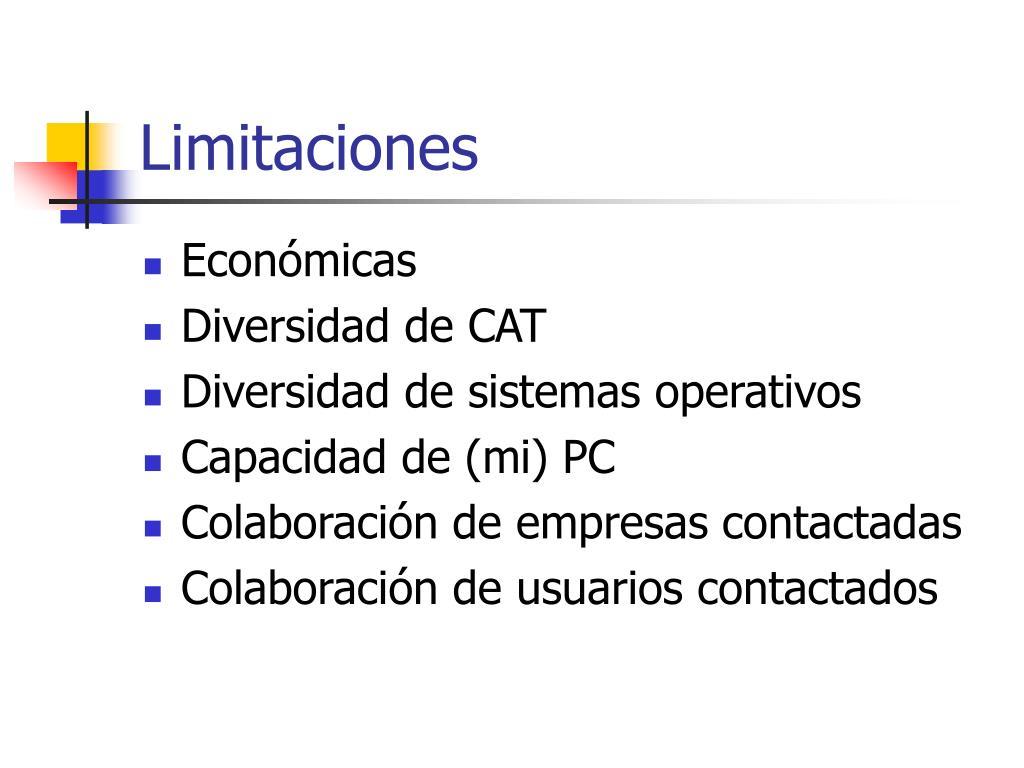 Limitaciones