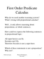 first order predicate calculus