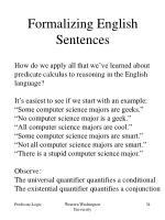 formalizing english sentences