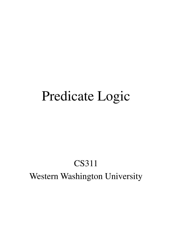 predicate logic l.