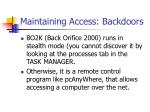 maintaining access backdoors31