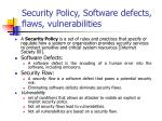 security policy software defects flaws vulnerabilities