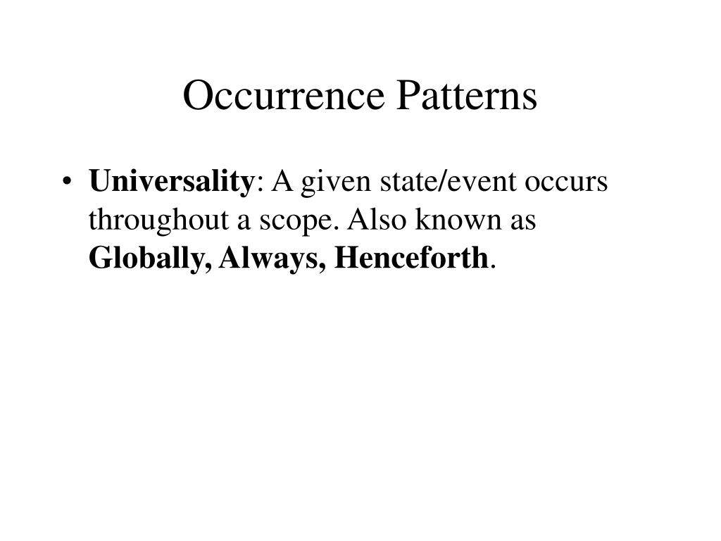 Occurrence Patterns