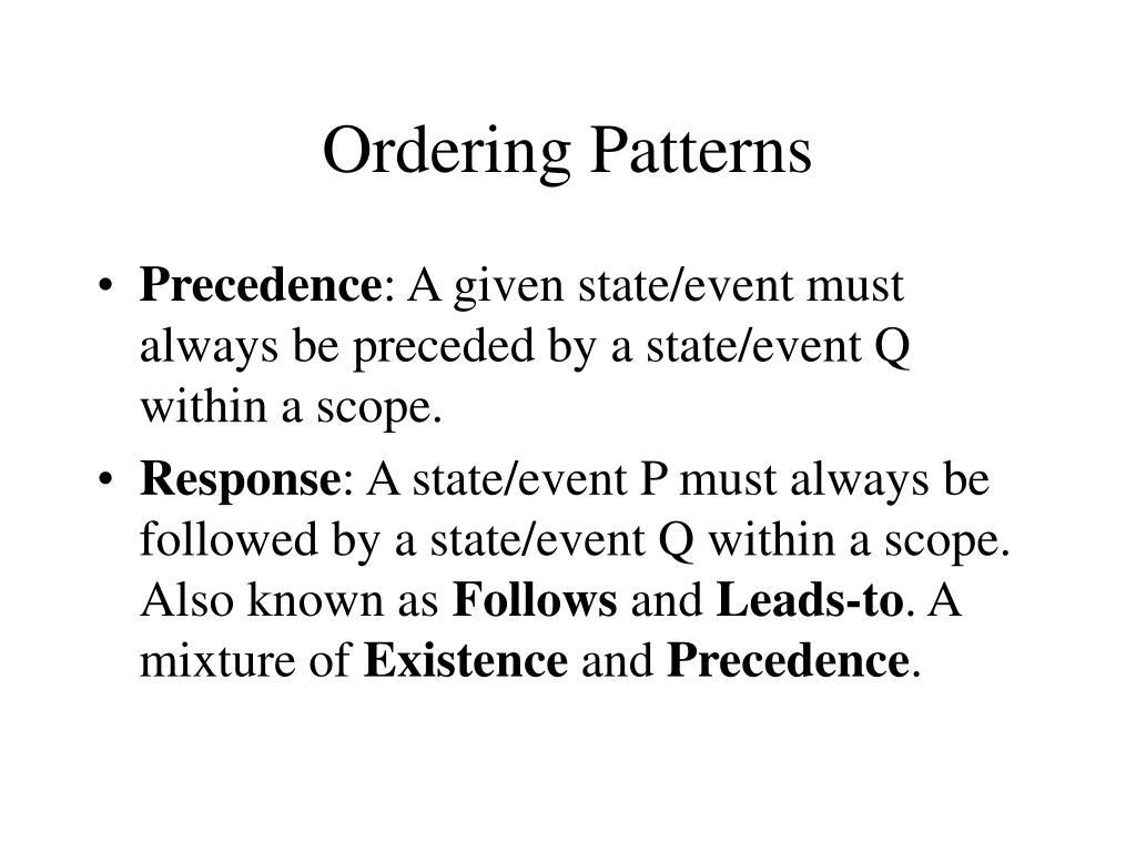 Ordering Patterns