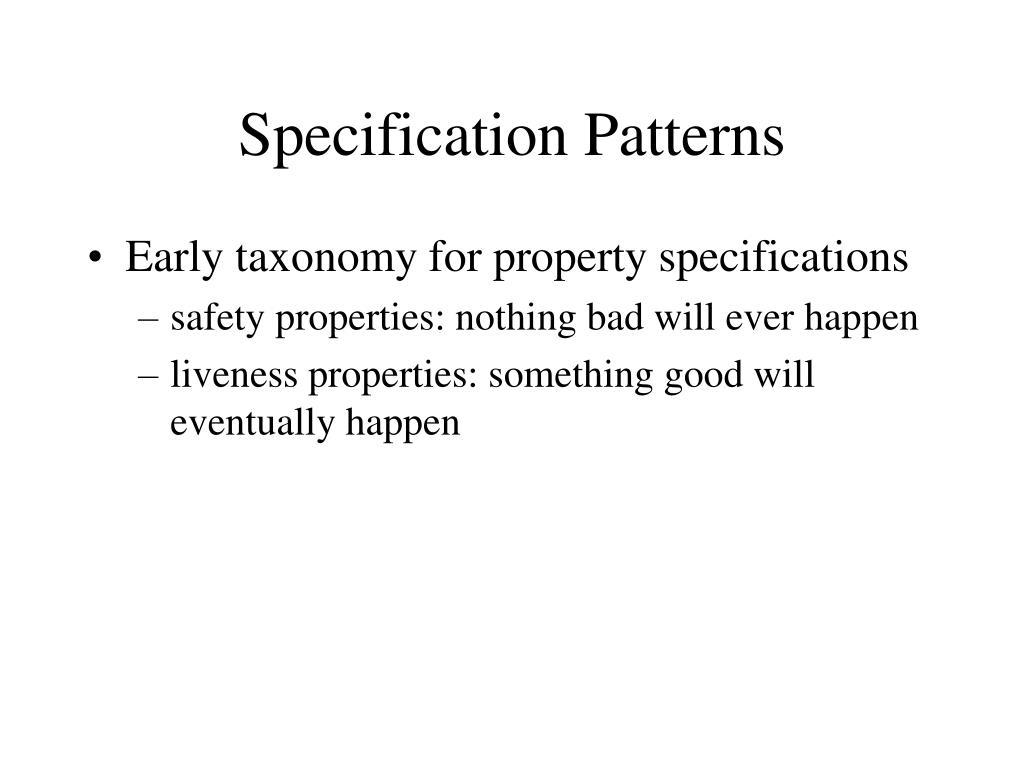 specification patterns l.
