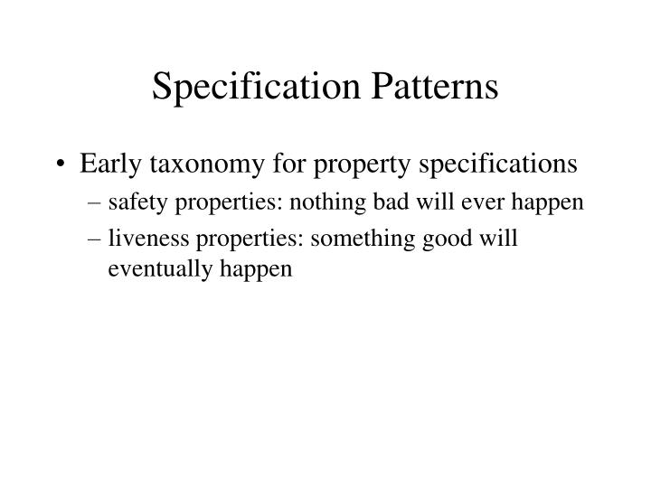Specification patterns