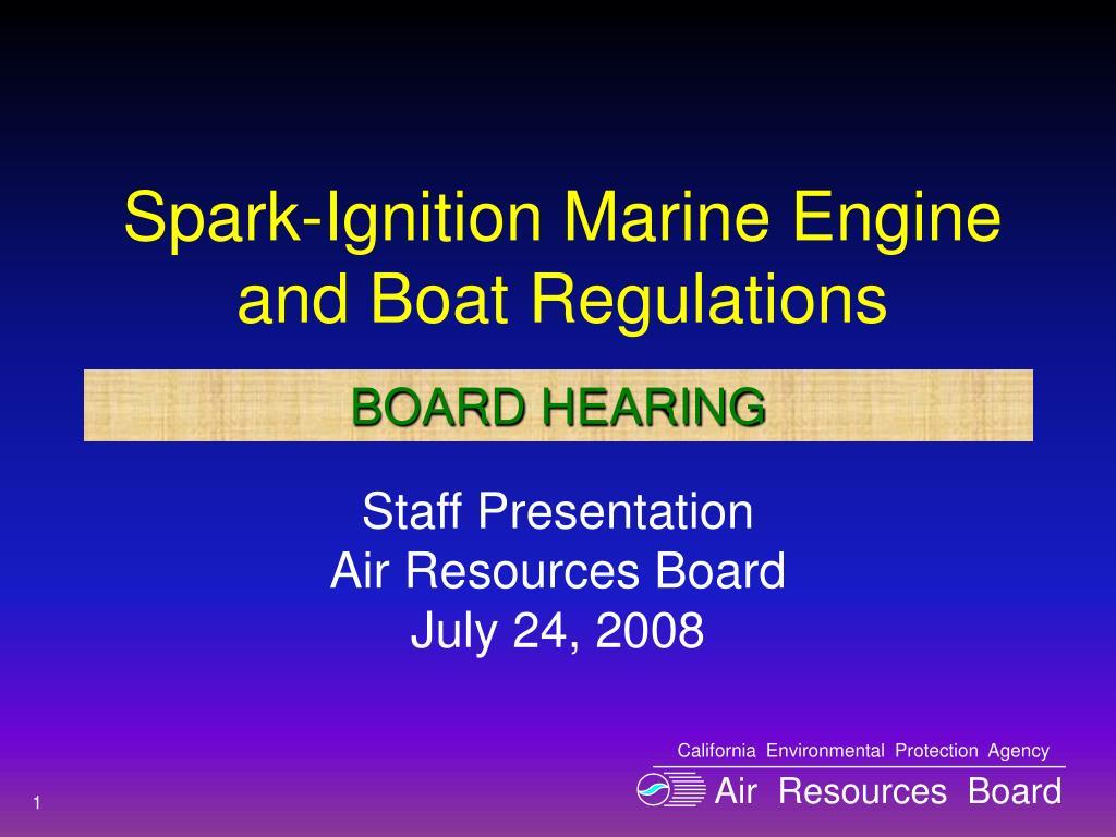 spark ignition marine engine and boat regulations l.