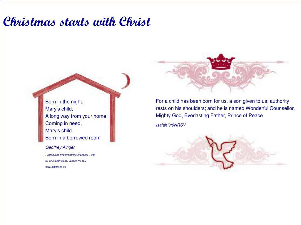 Christmas starts with Christ