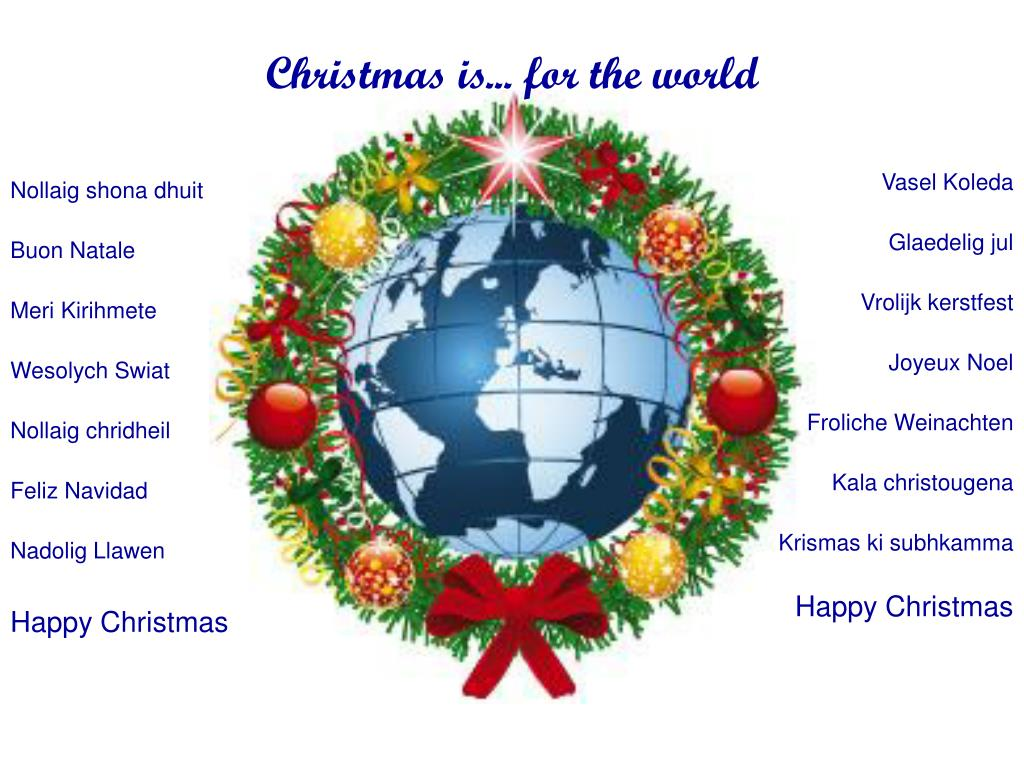 Christmas is... for the world
