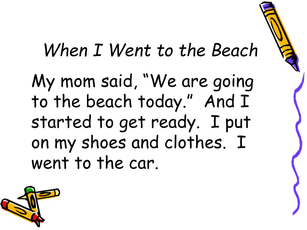 When I Went to the Beach