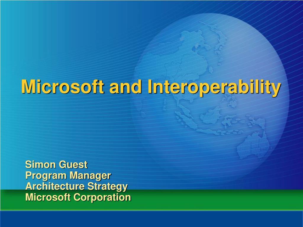 microsoft and interoperability l.