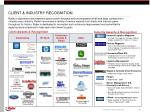 client industry recognition