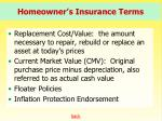 homeowner s insurance terms