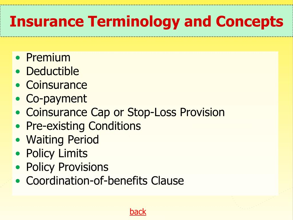 Insurance Terminology and Concepts