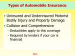 types of automobile insurance45