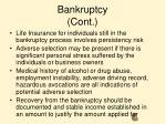 bankruptcy cont