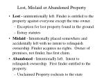 lost mislaid or abandoned property
