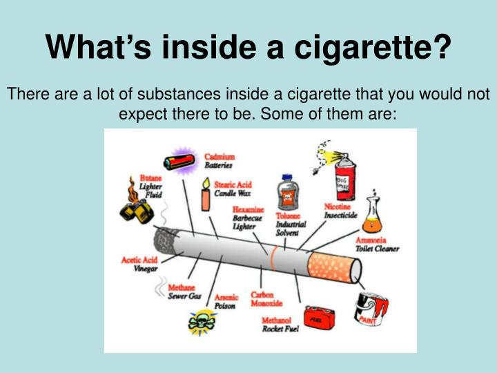 What s inside a cigarette
