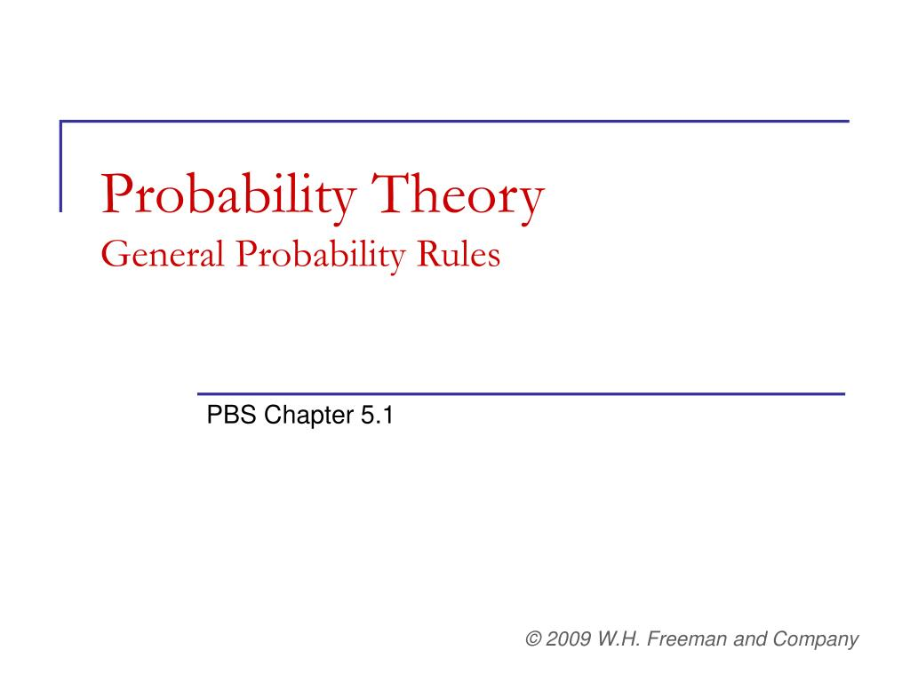 probability theory general probability rules l.