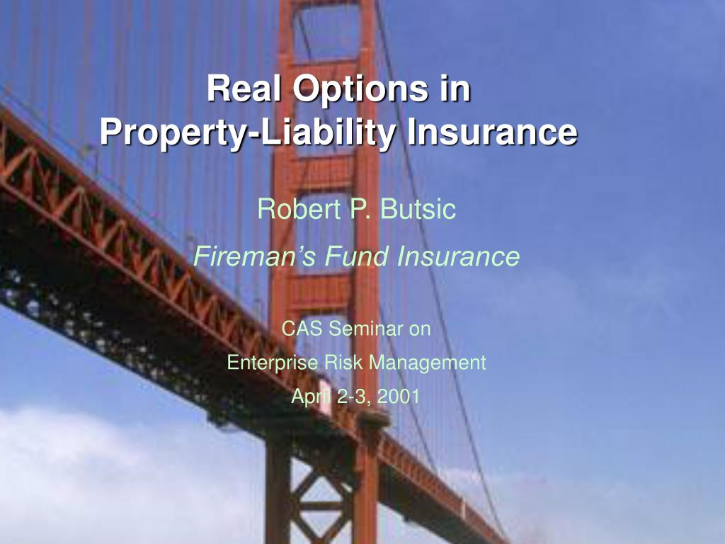 real options in property liability insurance l.