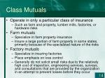 class mutuals