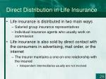 direct distribution in life insurance