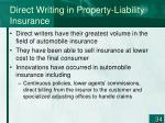 direct writing in property liability insurance34