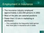 employment in insurance