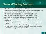 general writing mutuals