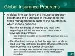 global insurance programs49