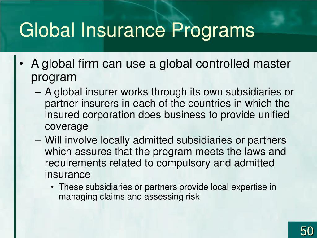 Global Insurance Programs