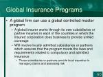 global insurance programs50