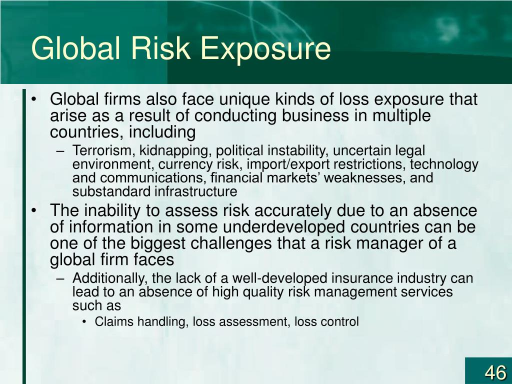Global Risk Exposure