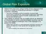 global risk exposure46