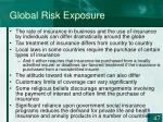 global risk exposure47