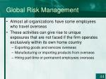 global risk management