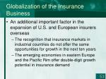 globalization of the insurance business53